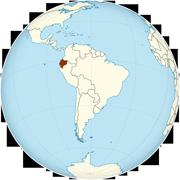 Ecuador on the globe