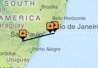 Classic Rio, Paraty and Iguassu Map