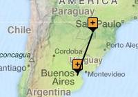 Classic Buenos Aires to Iguazu Map