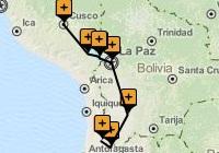 Cusco to Calama Tour Map