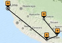 Highlights of Peru Holiday Map