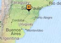 Discover Iguassu Falls from Brazil map