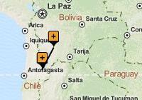 Uyuni to San Pedro de Atacama Map