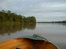 Leaving Puerto Maldonado by boat