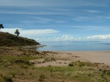 Beach on Taquile Island, Lake Titicaca