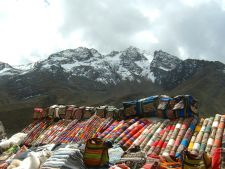 Traditional handicrafts at La Raya, between Cusco and Puno