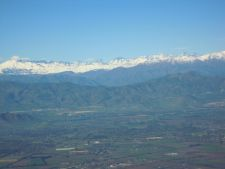 Arriving into Santiago by plane