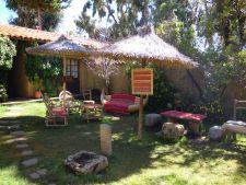Posada del Inca garden on Isla del Sol
