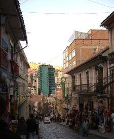 Sagarnaga Street, La Paz City by Pilar Rau