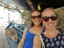 Sharing a bench with the locals - Puerto Ayora