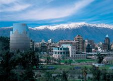Uptown Santiago and the Andes