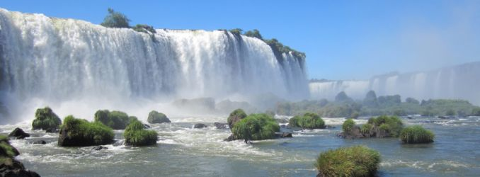 Iguazu Falls viewed from Brazil